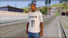 Monster Black And White T-Shirt for GTA San Andreas