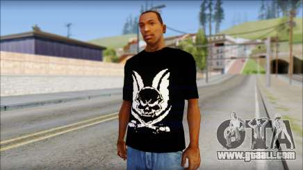 Skull T-Shirt Black for GTA San Andreas