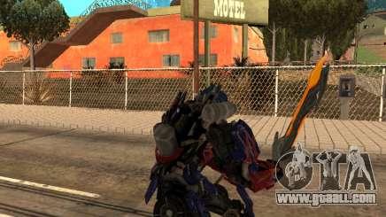 Optimus Sword for GTA San Andreas