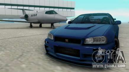 Nissan Skyline R34 Fast and Furious 4 for GTA San Andreas