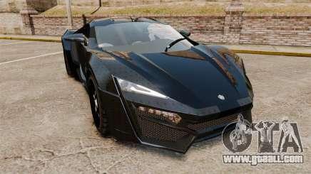Lykan HyperSport Black for GTA 4
