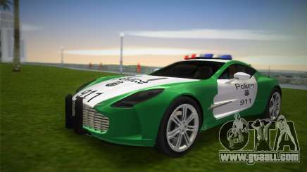 Aston Martin One-77 police for GTA Vice City