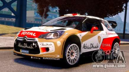 Citroen DS3 WRC for GTA 4