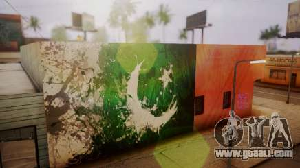 Pakistani Flag Graffiti Wall for GTA San Andreas