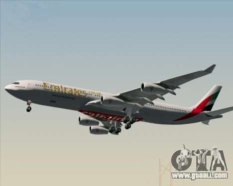 Airbus A340-313 Emirates for GTA San Andreas wheels