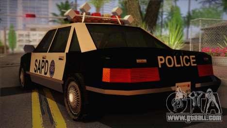 GTA 3 Police Car for GTA San Andreas left view