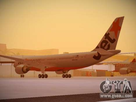 Airbus A330-200 Jetstar Airways for GTA San Andreas back left view