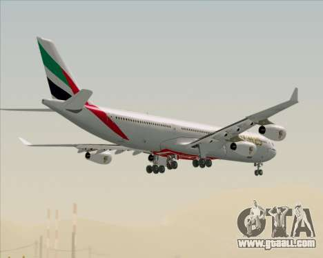 Airbus A340-313 Emirates for GTA San Andreas bottom view