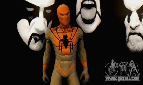 Skin The Amazing Spider Man 2 - Suit Assasin for GTA San Andreas sixth screenshot