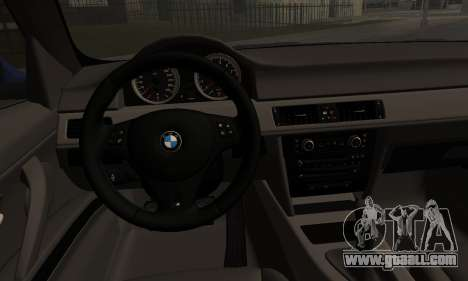 BMW M3 E90 Stance Works for GTA San Andreas back left view