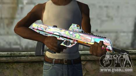 Graffiti Assault rifle for GTA San Andreas third screenshot