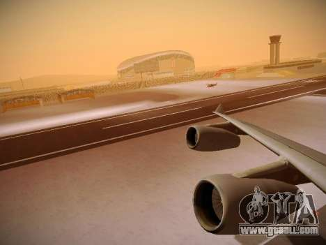 Airbus A340-300 Cathay Pacific for GTA San Andreas engine