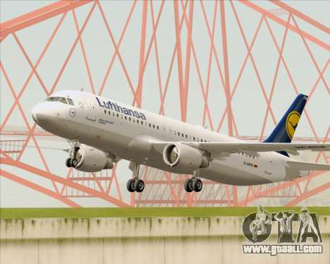 Airbus A320-211 Lufthansa for GTA San Andreas side view