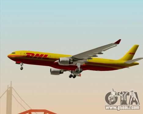 Airbus A330-300P2F DHL for GTA San Andreas back left view