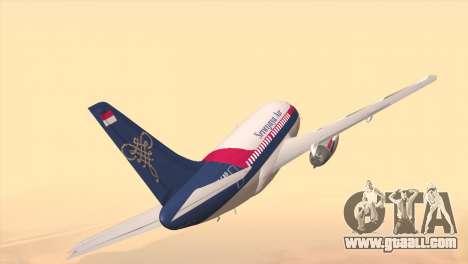 Indonesian Plane Sriwijaya Air for GTA San Andreas back left view