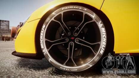 McLaren 650S Spider 2014 [EPM] Michelin v4 for GTA 4 back view