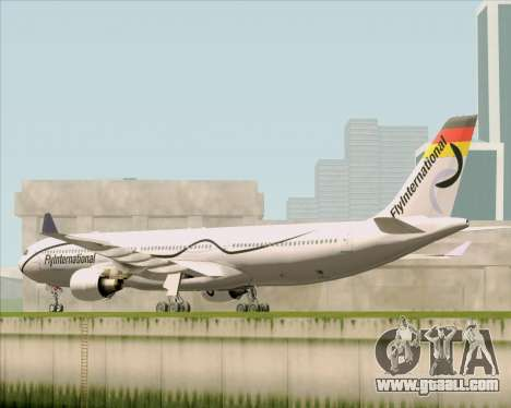 Airbus A330-300 Fly International for GTA San Andreas back left view