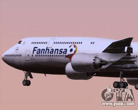 Boeing 747-830 Lufthansa - Fanhansa for GTA San Andreas side view