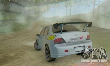 Mitsubishi Lancer Turkis Drift Aem for GTA San Andreas inner view