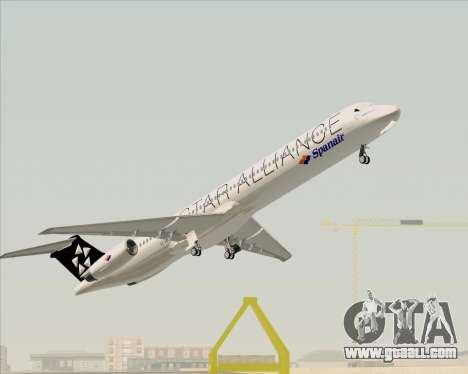 McDonnell Douglas MD-82 Spanair for GTA San Andreas interior