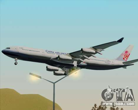 Airbus A340-313 China Airlines for GTA San Andreas back view