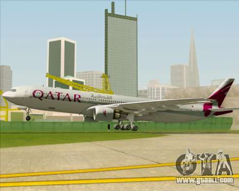 Airbus A330-300 Qatar Airways for GTA San Andreas engine