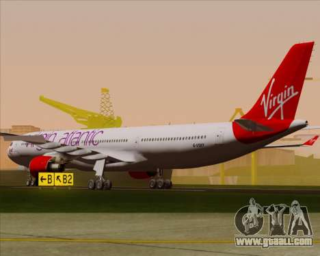 Airbus A330-300 Virgin Atlantic Airways for GTA San Andreas right view