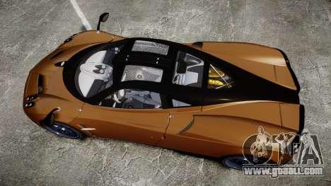 Pagani Huayra 2013 for GTA 4 right view