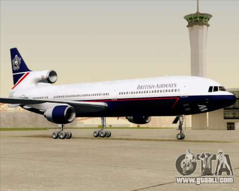 Lockheed L-1011 TriStar British Airways for GTA San Andreas upper view