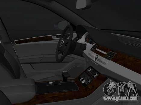 Audi A8 2010 W12 Rim1 for GTA Vice City inner view