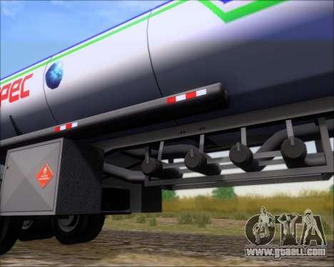 Trailer tank Carro Copec for GTA San Andreas upper view
