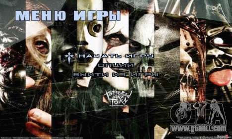 Metal Menu - Slipknot for GTA San Andreas