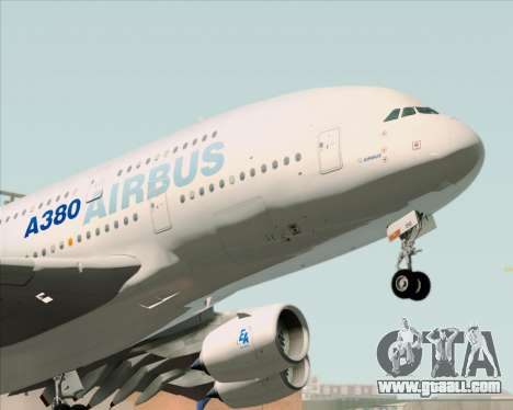 Airbus A380-861 for GTA San Andreas back view