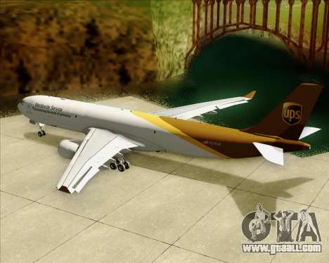 Airbus A330-300P2F UPS Airlines for GTA San Andreas engine