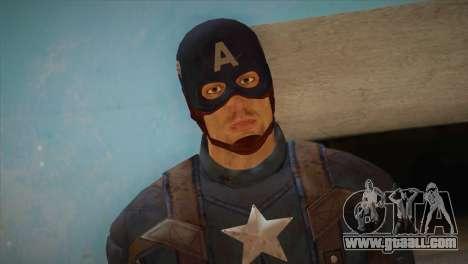Captain America v1 for GTA San Andreas third screenshot