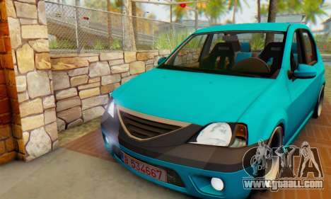 Dacia Logan Elegant for GTA San Andreas left view