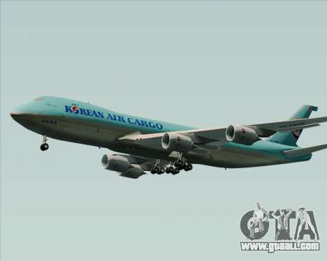 Boeing 747-8 Cargo Korean Air Cargo for GTA San Andreas back left view