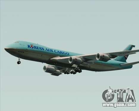 Boeing 747-8 Cargo Korean Air Cargo for GTA San Andreas back left view