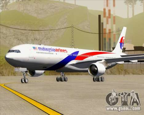 Airbus A330-323 Malaysia Airlines for GTA San Andreas left view