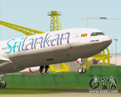 Airbus A340-313 SriLankan Airlines for GTA San Andreas interior