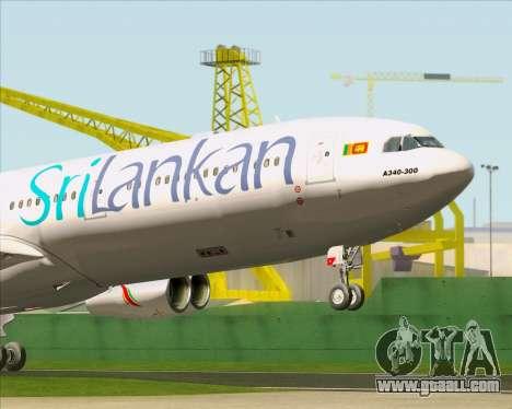 Airbus A340-313 SriLankan Airlines for GTA San Andreas interior