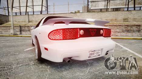 Pontiac Firebird Trans Am 2002 for GTA 4 back left view