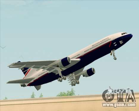Lockheed L-1011 TriStar British Airways for GTA San Andreas left view