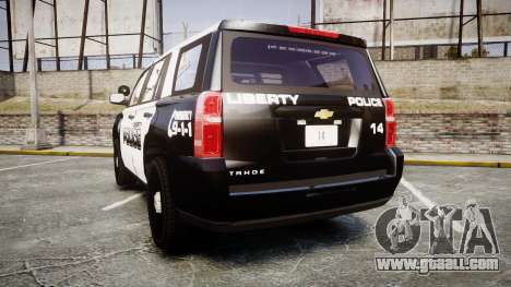 Chevrolet Tahoe 2015 Liberty Police [ELS] for GTA 4 back left view
