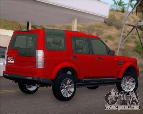 Land Rover Discovery 4 for GTA San Andreas back view