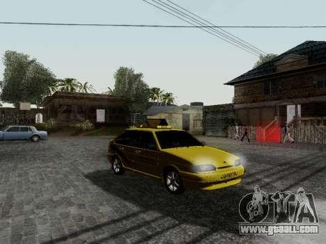 VAZ 2114 TMK afterburner for GTA San Andreas left view