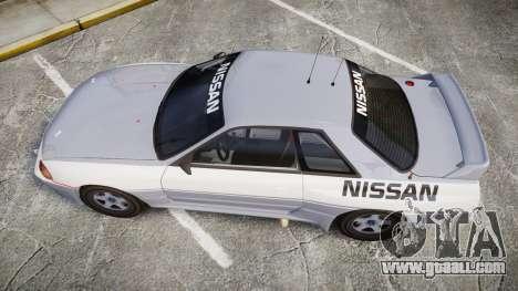 Nissan Skyline GTR R32 for GTA 4 right view