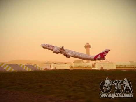 Airbus A340-600 Qatar Airways for GTA San Andreas interior