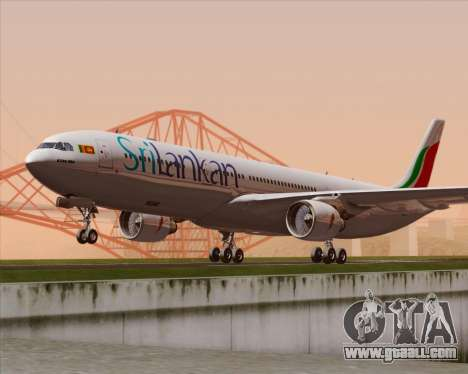 Airbus A330-300 SriLankan Airlines for GTA San Andreas back left view