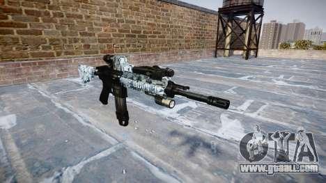 Automatic rifle Colt M4A1 skulls for GTA 4